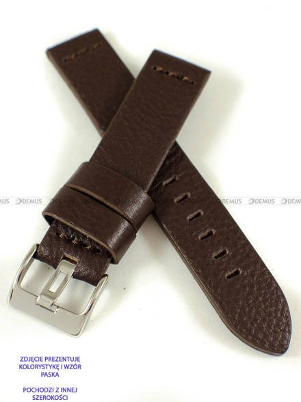 Pasek skórzany do zegarka - Pacific W23.24.2.2 - 24 mm