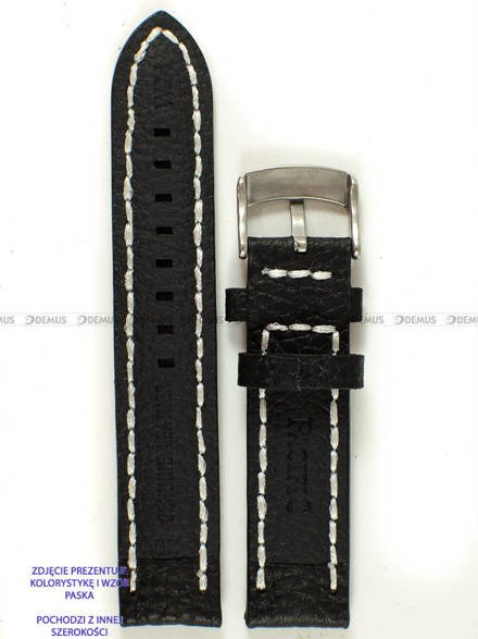 Pasek skórzany do zegarka - Pacific W24.22.1.7 - 22 mm