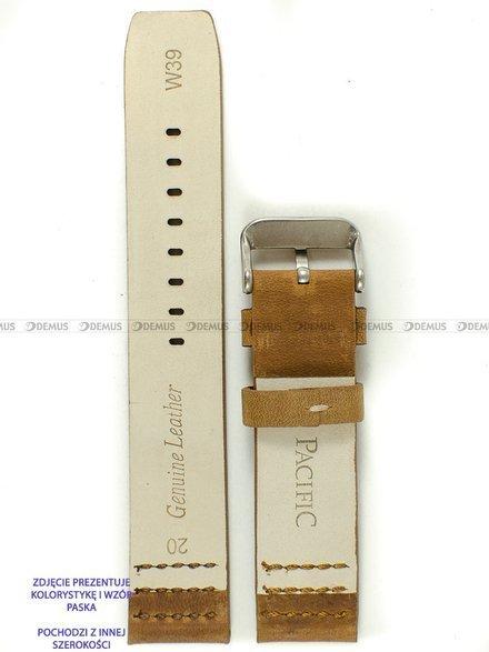 Pasek skórzany do zegarka - Pacific W39.22.3.3 - 22 mm