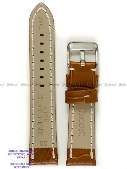 Pasek skórzany do zegarka - Pacific W49.24.3.7 - 24 mm