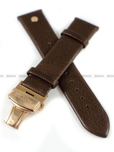Pasek skórzany do zegarka Roamer - 550660 49 65 05 - 20 mm