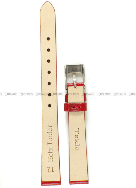 Pasek skórzany do zegarka - Tekla PT42.12.4 - 12 mm