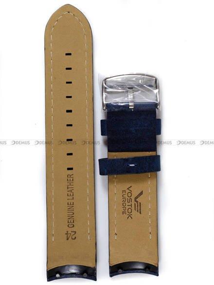 Pasek skórzany do zegarka Vostok Anchar 6S21-510A583 - 24 mm