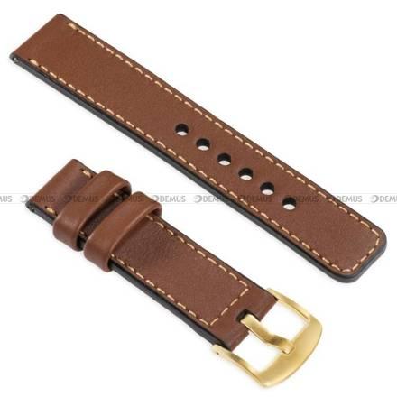Pasek skórzany do zegarka lub smartwatcha - moVear WQU0C01GD00GDPM18B2 - 18 mm