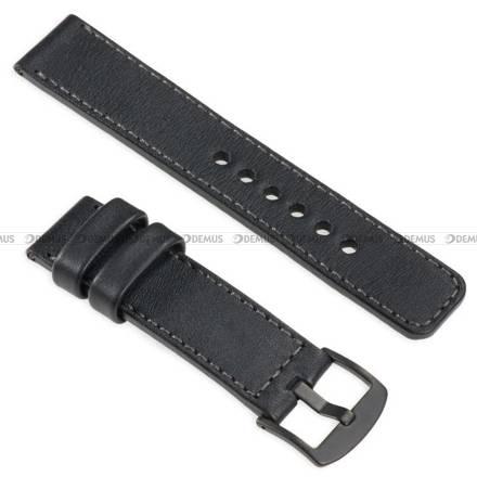 Pasek skórzany do zegarka lub smartwatcha - moVear WQU0C01GP00BKMM20BK - 20 mm