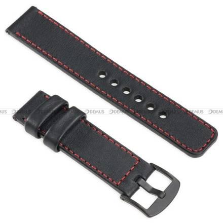 Pasek skórzany do zegarka lub smartwatcha - moVear WQU0C01RE00BKMM18BK - 18 mm
