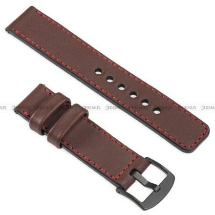 Pasek skórzany do zegarka lub smartwatcha - moVear WQU0C01RE00BKMM22B1 - 22 mm