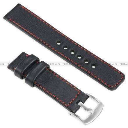 Pasek skórzany do zegarka lub smartwatcha - moVear WQU0C01RE00SLBM18BK - 18 mm