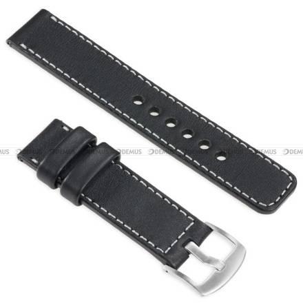 Pasek skórzany do zegarka lub smartwatcha - moVear WQU0C01SL00SLBM26BK - 26 mm