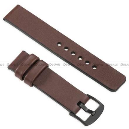 Pasek skórzany do zegarka lub smartwatcha - moVear WQU0S010000BKMM24B1 - 24 mm