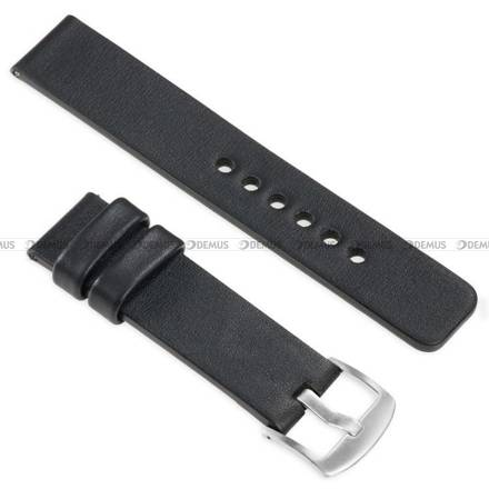 Pasek skórzany do zegarka lub smartwatcha - moVear WQU0S010000SLBM18BK - 18 mm