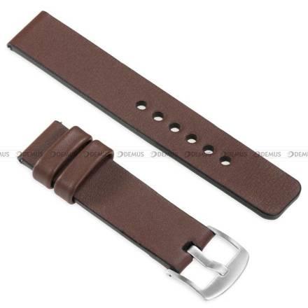 Pasek skórzany do zegarka lub smartwatcha - moVear WQU0S010000SLBM22B1 - 22 mm