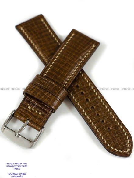 Pasek skórzany ręcznie robiony A. Kucharski Leather - Conceria Puccini Palmellato - chestnut/camel 30 mm