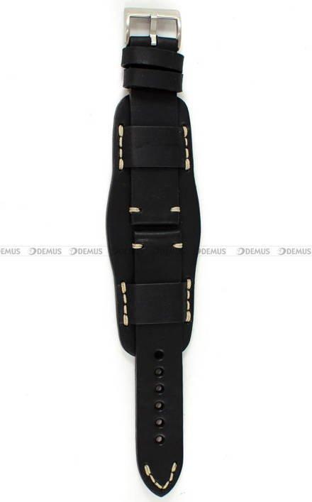 Pasek skórzany z podkładką ręcznie robiony do zegarka - Tekla PT-HM2-22.1.7 - 22 mm