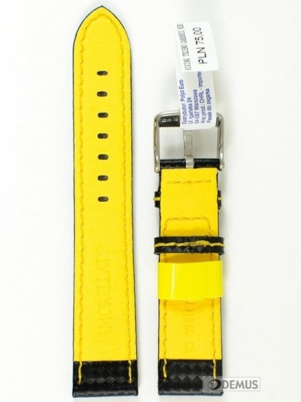 Pasek wodoodporny karbonowy do zegarka - Morellato A01U3586977897 20mm