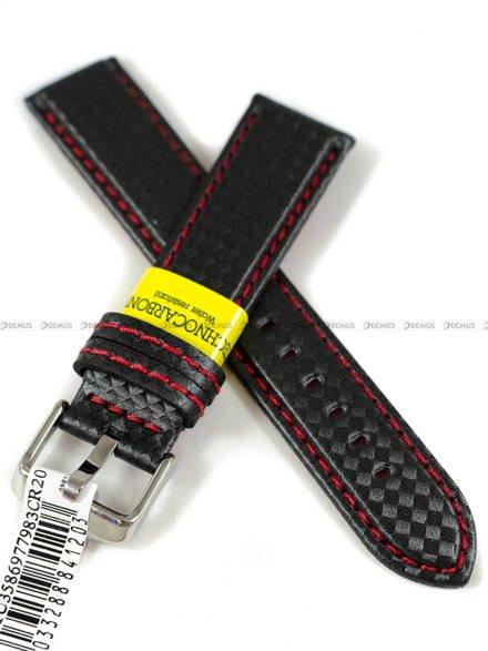 Pasek wodoodporny karbonowy do zegarka - Morellato A01U3586977983CR20 - 20 mm