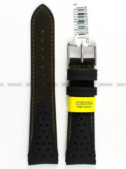 Pasek wodoodporny skórzano-nylonowy do zegarka - Morellato A01X4747110033 - 22 mm