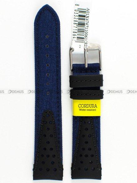 Pasek wodoodporny skórzano-nylonowy do zegarka - Morellato A01X4747110061 - 20 mm