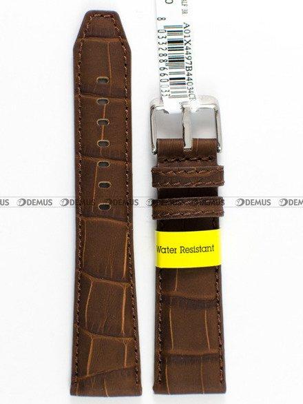 Pasek wodoodporny skórzany do zegarka - Morellato A01X4497B44034 - 18 mm