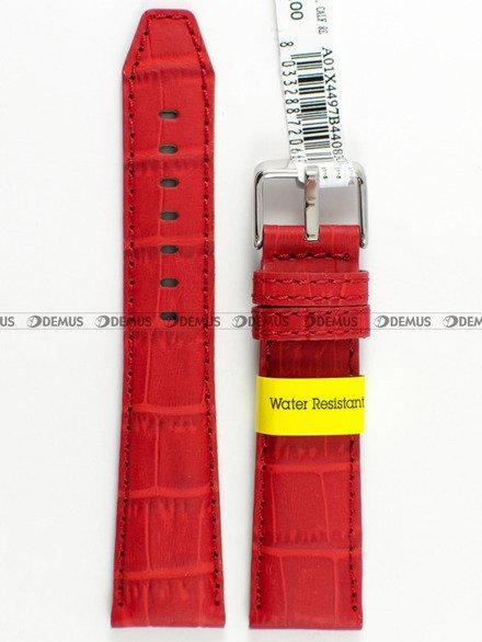Pasek wodoodporny skórzany do zegarka - Morellato A01X4497B44083 - 18 mm