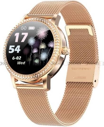 Smartwatch Damski Rubicon RNBE63 różowe złoto