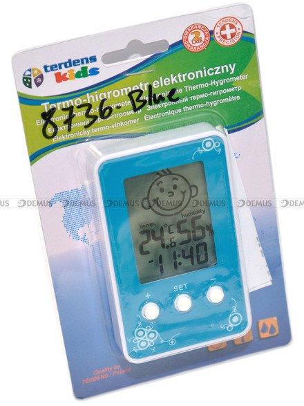 Termometr Higrometr Zegar dla dzieci Terdens 8736-Blue