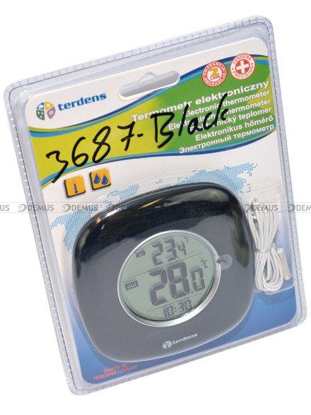 Termometr Zegar Terdens 3687-Black