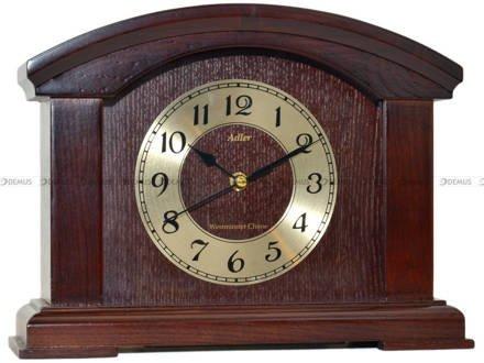 Zegar kominkowy Adler 22086-DCH drewniany, ciemna wiśnia, z kurantem