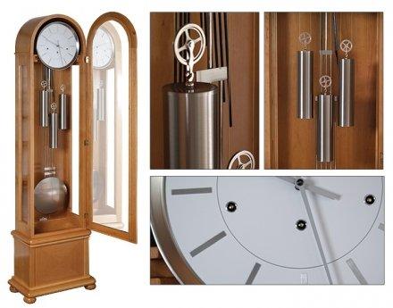 Zegar mechaniczny stojący LIMAX-SILVER-D