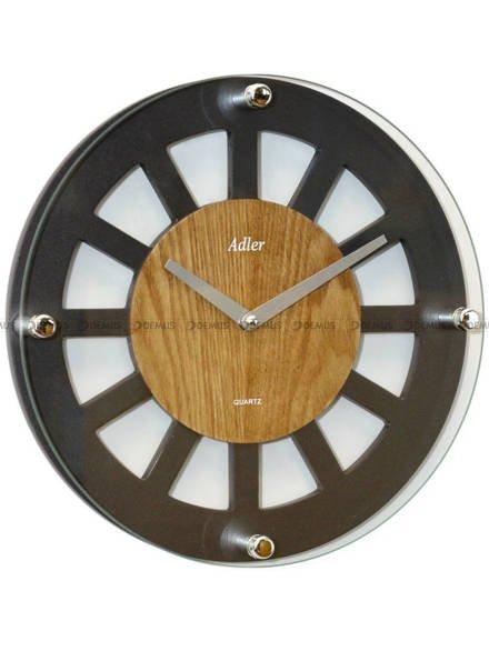 Zegar ścienny Adler 21158-ANTRACYT-OAK