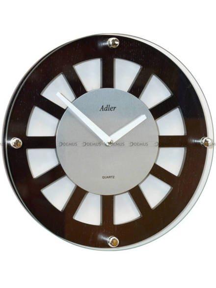Zegar ścienny Adler 21158-WENGE-SILVER