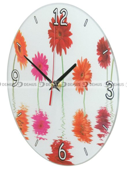Zegar ścienny Demus S144065-Gerbery