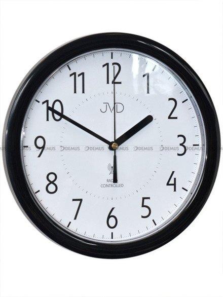Zegar ścienny JVD RH612.14 czarna obudowa, z sygnałem DCF