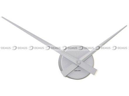 Zegar ścienny KARLSSON KA4348SI aluminiowy Little Big Time Mini srebrny