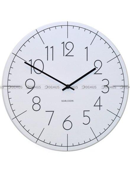 Zegar ścienny Karlsson Blade Numbers Metal White KA5592WH
