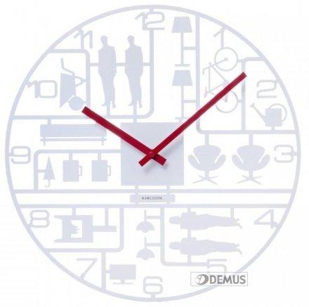 Zegar ścienny Karlsson Model Kit White KA5476WH