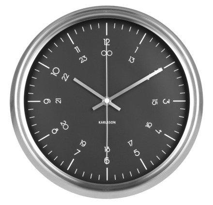 Zegar ścienny Karlsson Nautical Stainless Steel Black KA5597BK