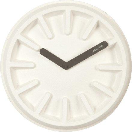 Zegar ścienny Karlsson Paper Pulp White KA5571WH