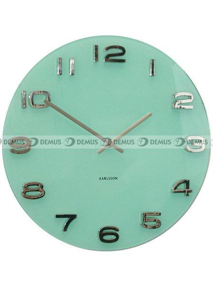 Zegar ścienny Karlsson Vintage Round Pastel Green KA5489PG