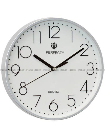 Zegar ścienny Perfect FX-5814 Srebrny - 23 cm