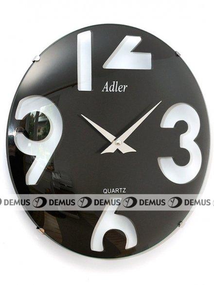 Zegar ścienny szklany Adler 21155-BLACK