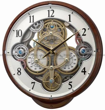 Zegar ścienny z termometrem i higrometrem Rhythm 4MH886WU23 - 30 melodii