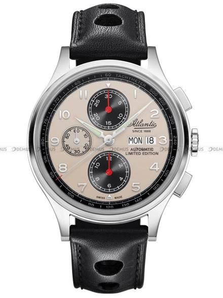Zegarek Atlantic Worldmaster Chronograph Valjoux 55852.41.93 - Limitowana edycja - Dodatkowy pasek w zestawie