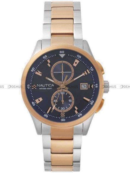 Zegarek Męski Nautica NAPLSN003 - W zestawie pasek skórzany
