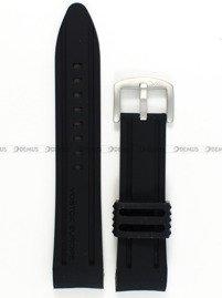 Pasek silikonowy do zegarka Vostok Anchar NH35A-5105143 - 24 mm czarny