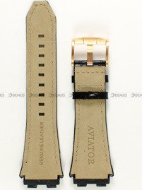Pasek skórzany do zegarka Aviator - M.2.03.6.009.4 - 26 mm