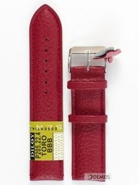 Pasek skórzany do zegarka - Diloy P205.22.4 - 22mm