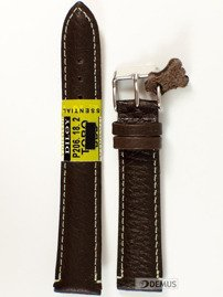 Pasek skórzany do zegarka - Diloy P206.18.2 18mm