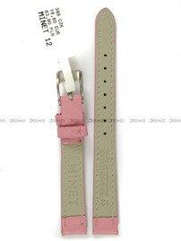 Pasek skórzany do zegarka - Minet MSBUP12 - 12 mm