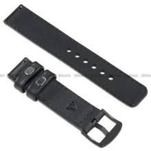 Pasek skórzany do zegarka lub smartwatcha - moVear WQU0C01SL00BKMM18BK - 18 mm